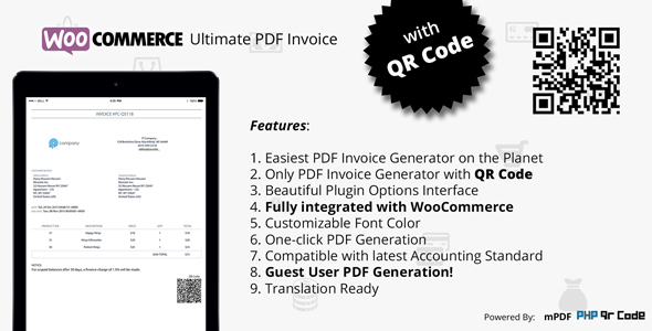 Photo of Get Woocommerce Ultimate PDF Invoice with QR Code Download