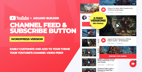 Photo of Get Youtube Channel Feeds and Subscribe Box WordPress Plugin Download