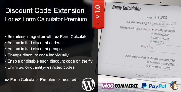Photo of Get ez Form Calculator – Discount Codes Extension Download