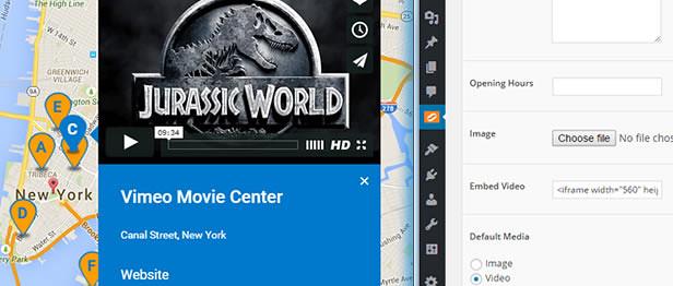 Showcase Interactive Videos using Super Store Finder for WordPress