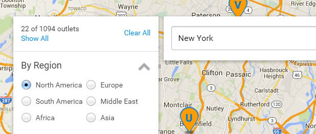 Filter by Regions in Super Store Finder for WordPress