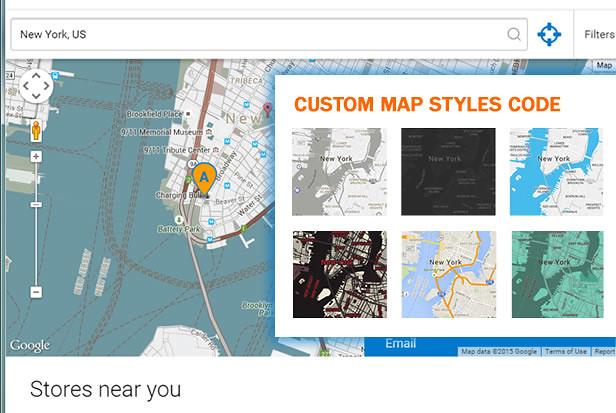 Custom Map Code in Super Store Finder for WordPress