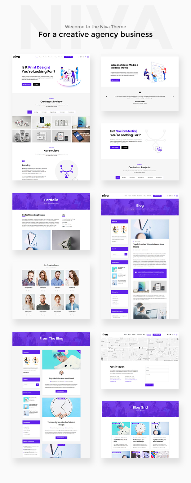 Niva - Creative Agency WordPress Theme - 2