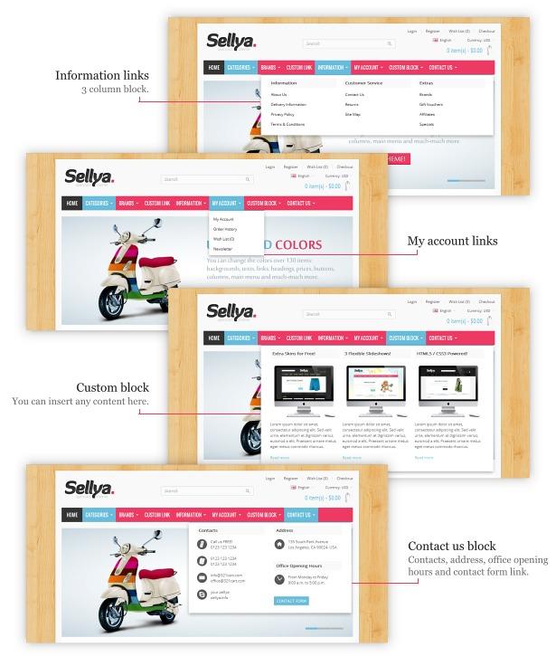 Sellya - Multi-Purpose Responsive OpenCart Theme - 22