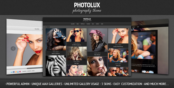 Expression Photography Responsive WordPress Theme - 2