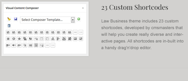 Custom Law Theme Shortcodes