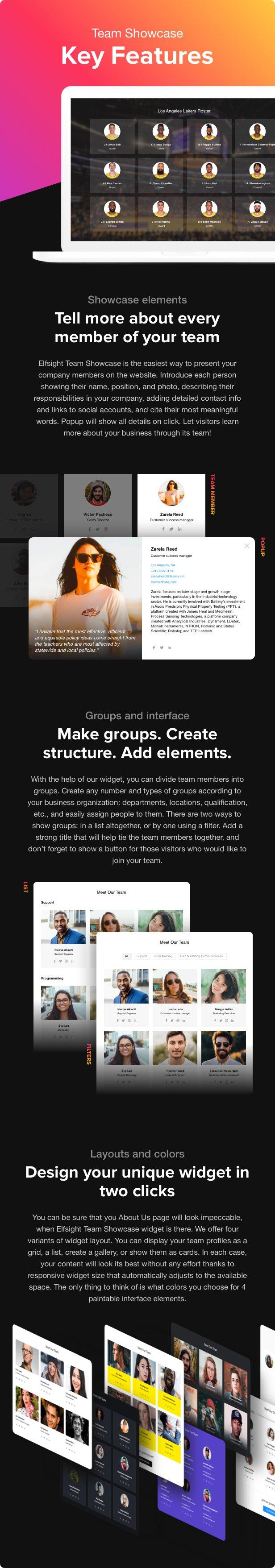Team Showcase - WordPress Team Showcase plugin - 2