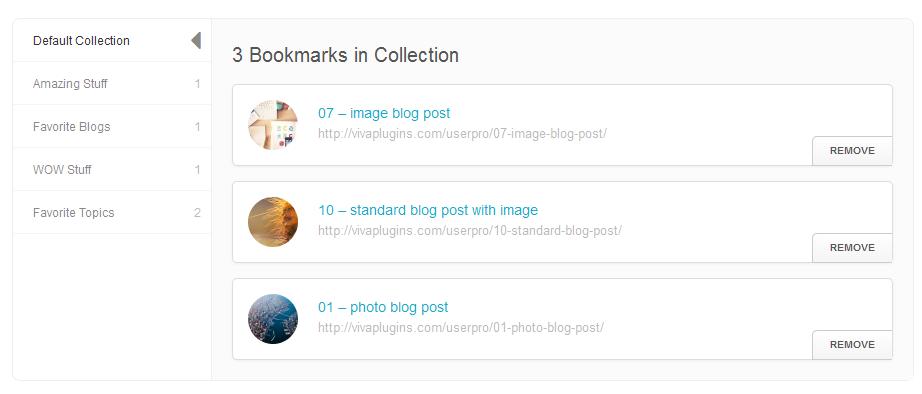 WordPress User Bookmarks for UserPro - 7