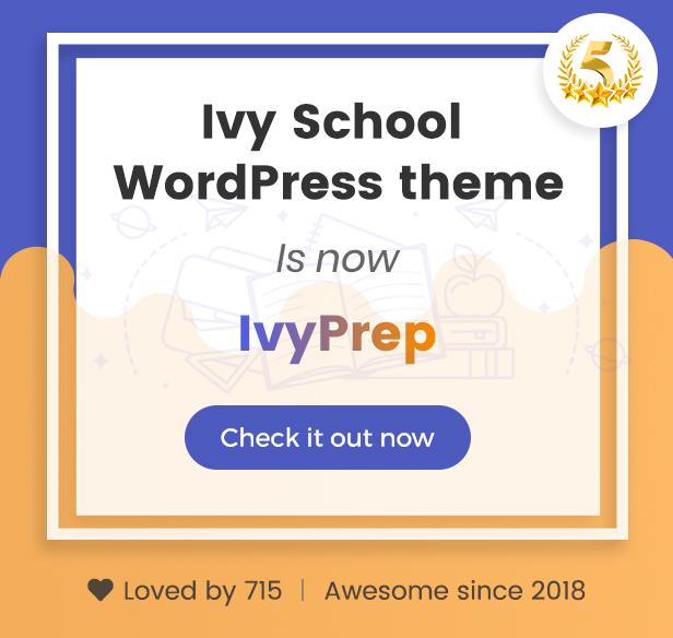 IvyPrep | Education & School WordPress Theme - 1