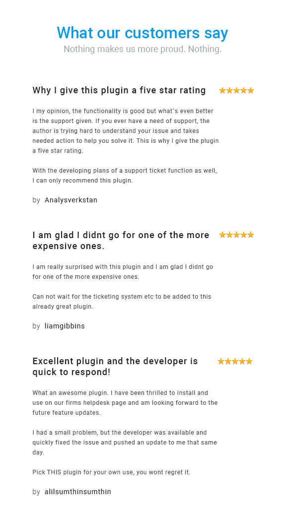 helpie - User Testimonial