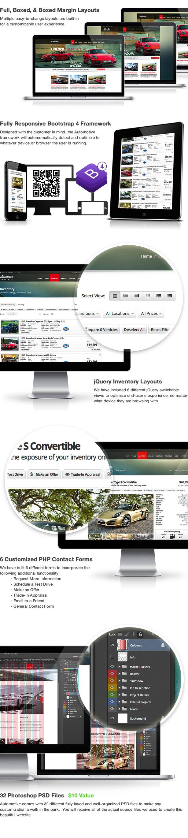 Automotive Template Features