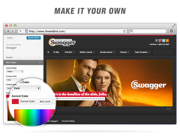 Swagger Responsive WordPress Theme - 7