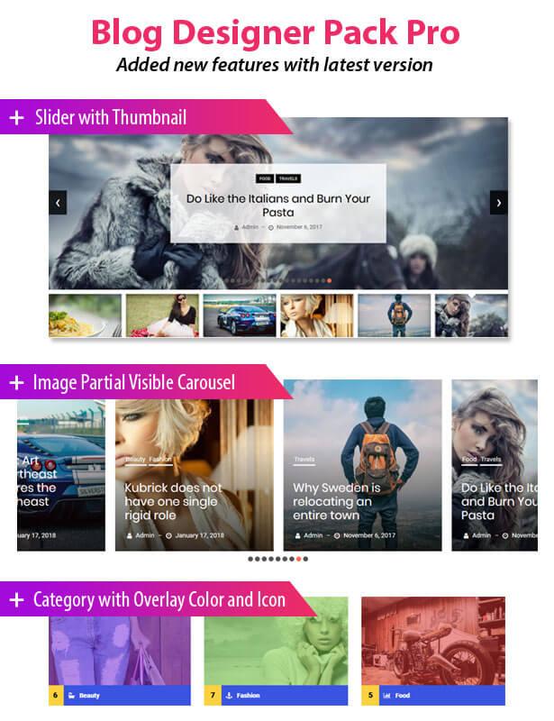 Blog Designer Pack Pro - News and Blog Plugin for WordPress - 1