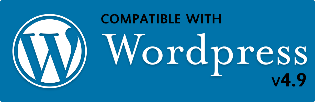 Compatible with Wordpress version 4.9.