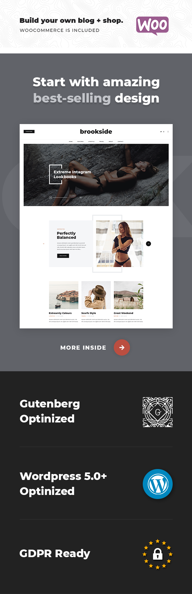 Brookside - Personal WordPress Blog Theme