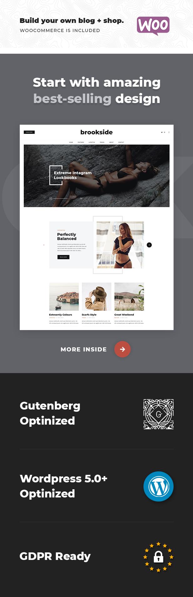 Brookside - Personal WordPress Blog Theme