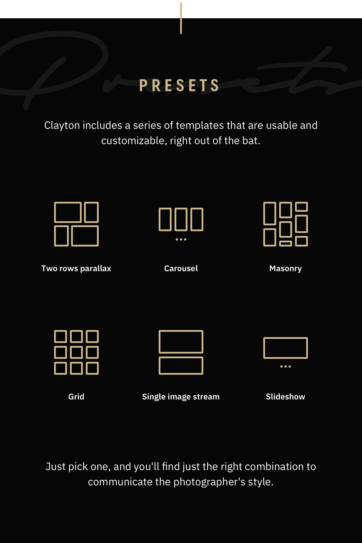 Clayton, an Elegant Theme for Photographers - 13