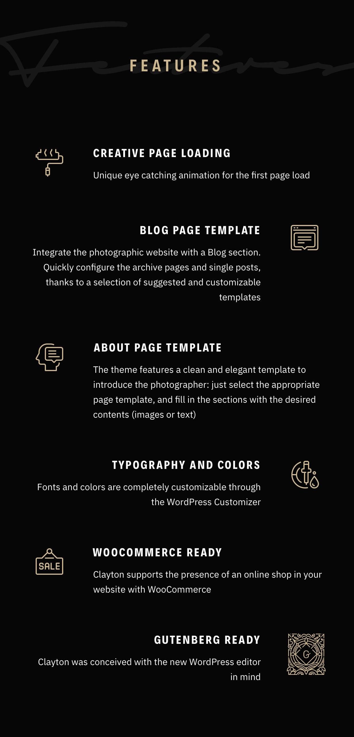 Clayton, an Elegant Theme for Photographers - 17