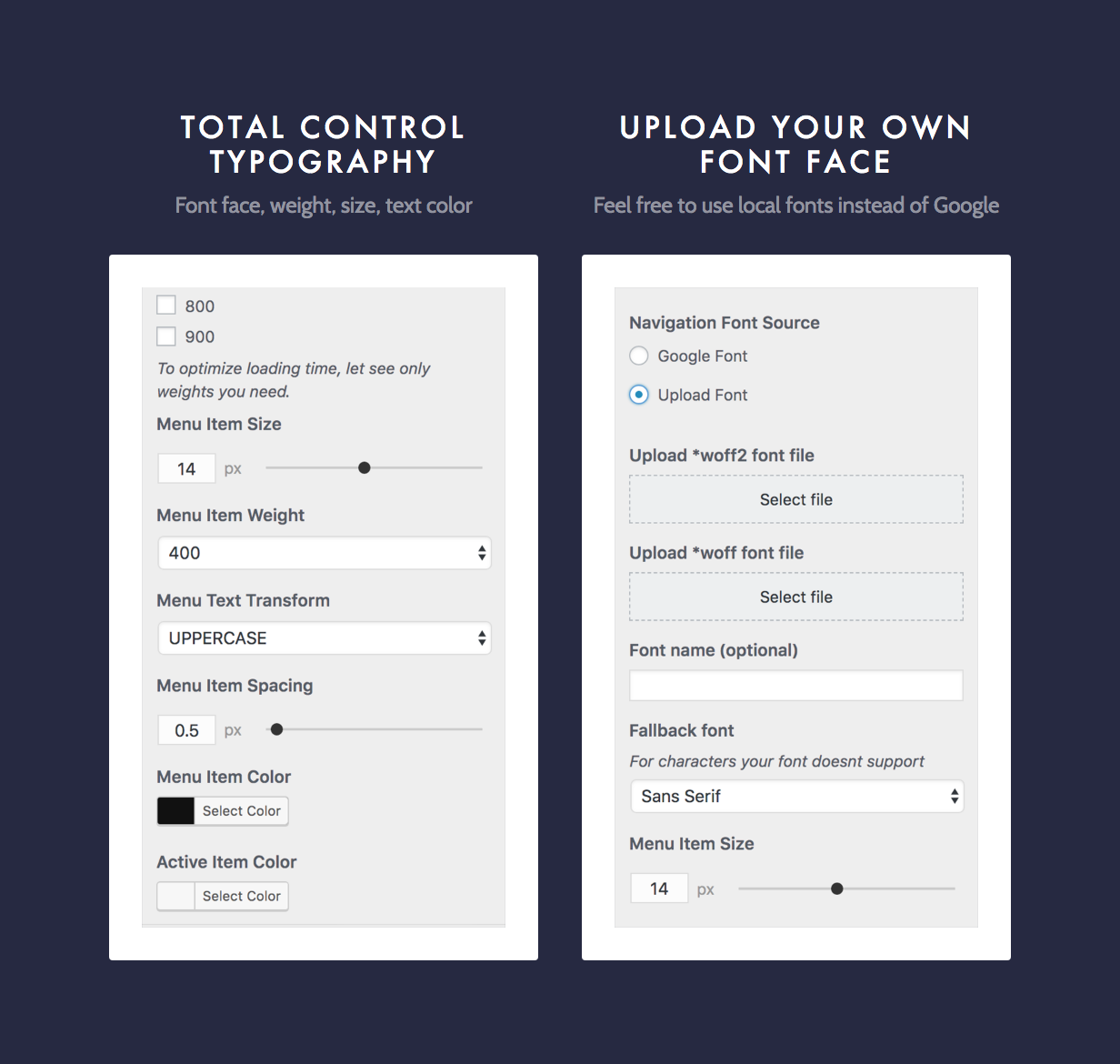 Dine Typography