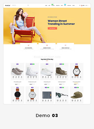 Puca - Optimized Mobile WooCommerce Theme - 15