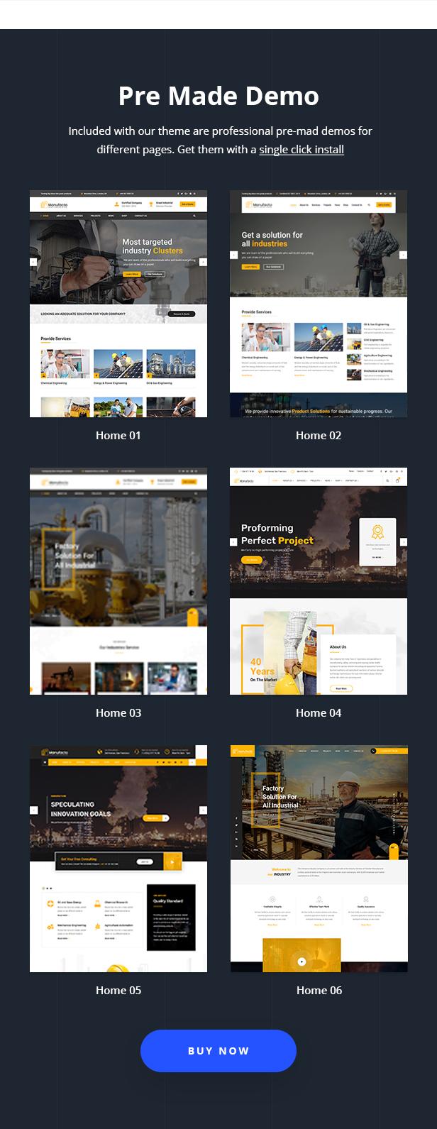 Manufacto Factory & Industrial WordPress Theme - 3