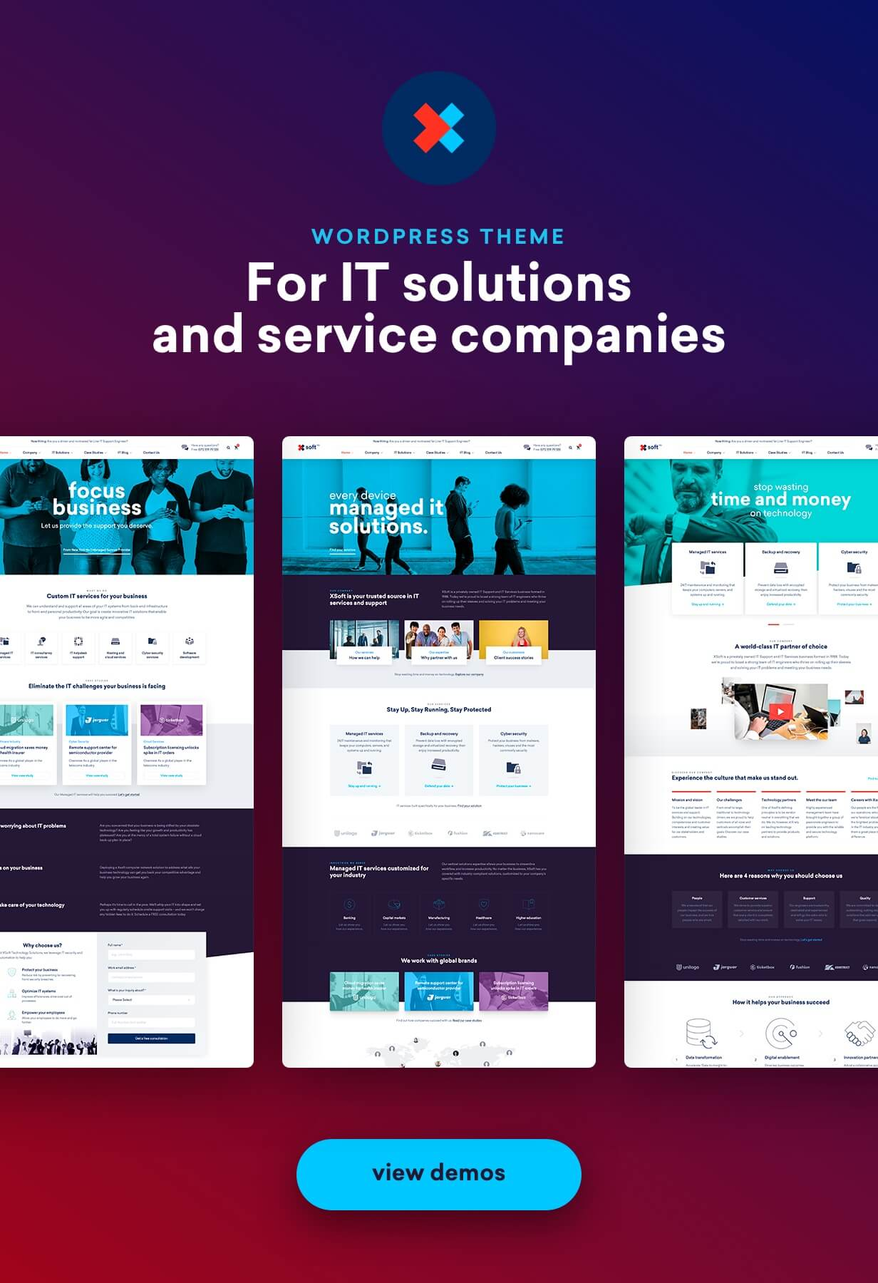 Nanosoft - WP Theme for IT Solutions and Services Company - 2