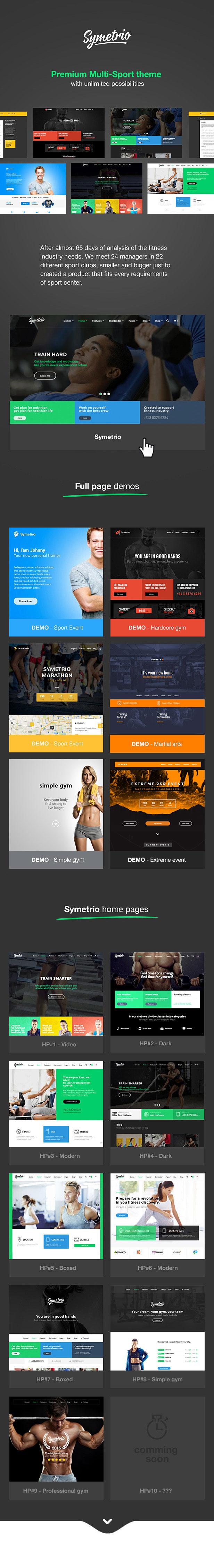 Symetrio - Gym & Fitness WordPress Theme - 1