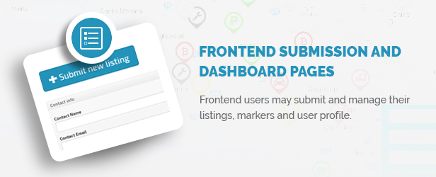 Frontend Submission and Dashboard pages