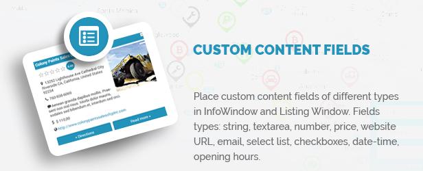 Custom Content Fields