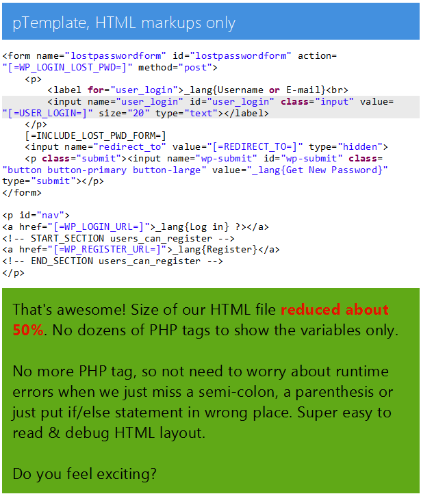 pTemplate: Better PHP Code-HTML Design Separately - 10