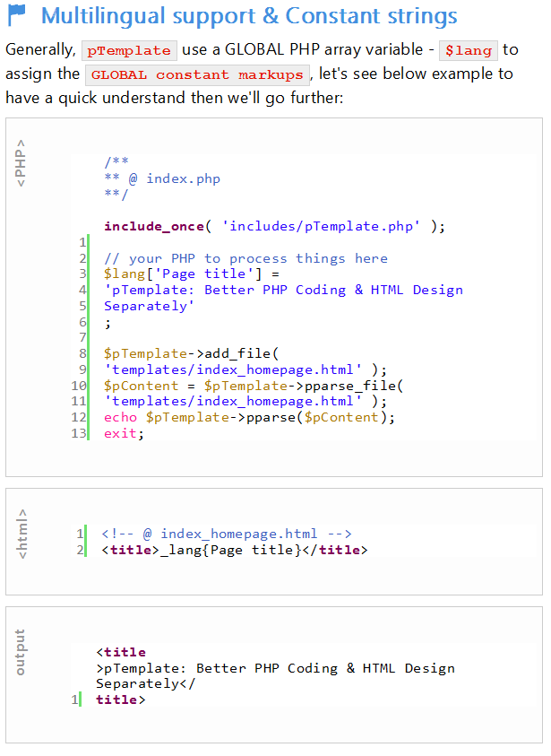 pTemplate: Better PHP Code-HTML Design Separately - 16