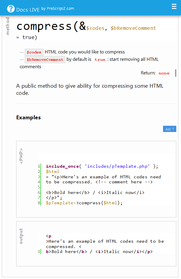 pTemplate: Better PHP Code-HTML Design Separately - 20