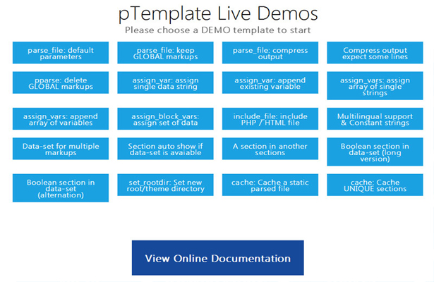 pTemplate: Better PHP Code-HTML Design Separately - 21