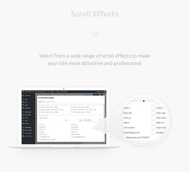 HayyaBuild - wordpress scroll effects plugin