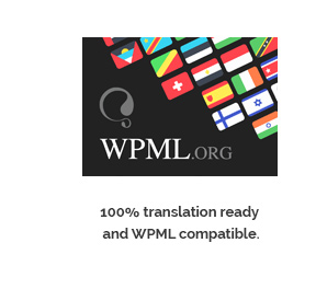 100% translation ready and WPML compatible.