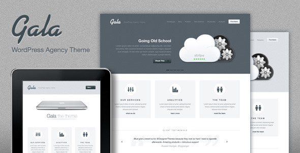 Photo of Get Gala, a Tasty Mac-inspired Agency WordPress Theme Download