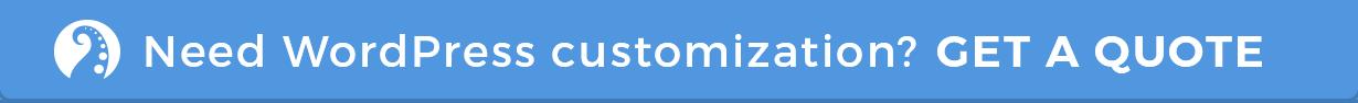 WordPress customizations from $29/h