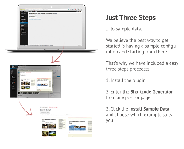 3 easy steps to sample data
