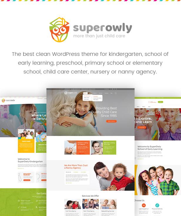 SuperOwly - Kids WordPress Theme - 1