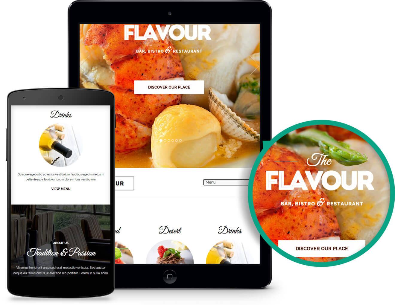 The Flavour - Restaurant WordPress Theme - 1