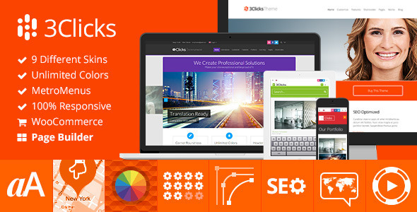 Photo of [Download] 3Clicks | Responsive Multi-Purpose WordPress Theme
