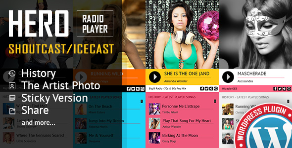 Photo of [Download] Hero – Shoutcast and Icecast Radio Player With History – WordPress Plugin