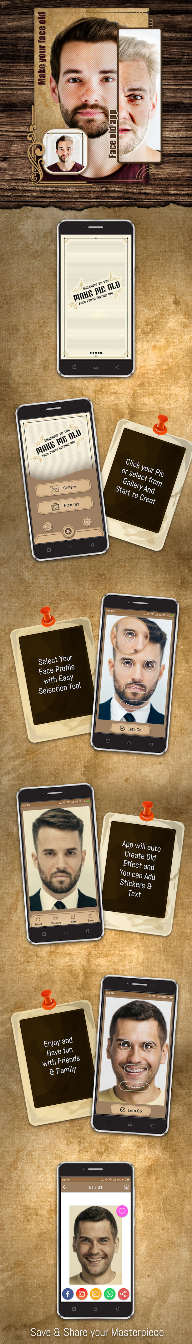 Make your face old , face old app - 1