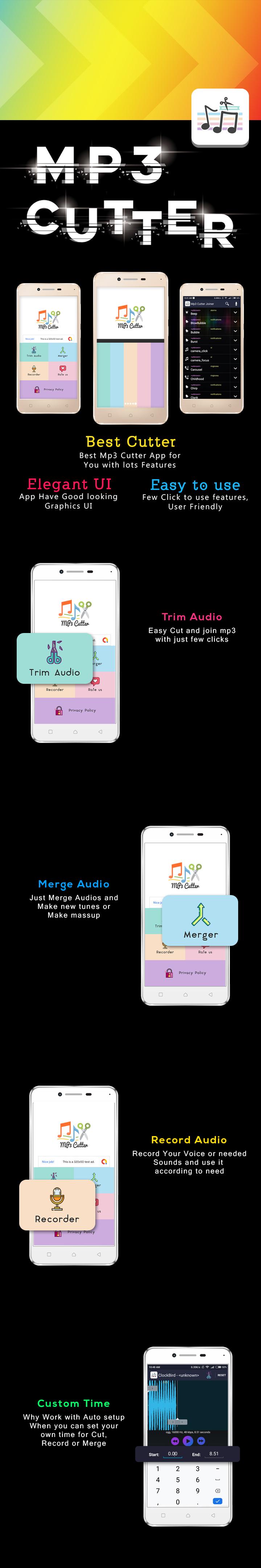 Mp3 ( Audio ) Editor , Trim , Cut & Merge.. - 1