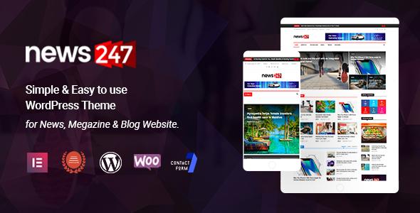 Photo of [Download] News247 – News Magazine WordPress Theme