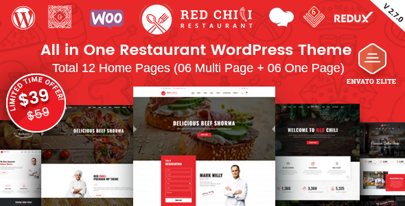 Photo of [Download] RedChili – Restaurant WordPress Theme