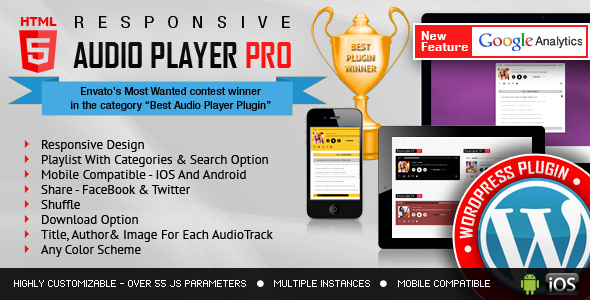 Photo of [Download] Responsive HTML5 Audio Player PRO WordPress Plugin