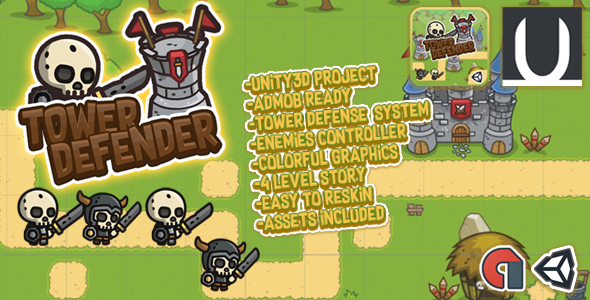 Photo of [Download] Tower Defender : Unity3d Game Source Code + Admob Ads