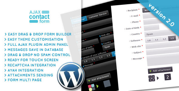 Photo of [Download] Wordpress Ajax Contact Form with attachments 2.0