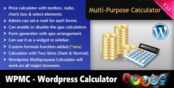 Photo of [Download] Wordpress Multipurpose Calculator